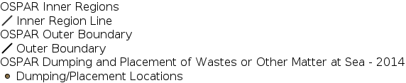 OSPAR Dumping and Placement of Wastes or Other Matter at Sea - 2014 legend