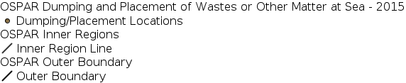 OSPAR Dumping and Placement of Wastes or Other Matter at Sea - 2015 legend