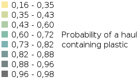 IA2017 Seabed Litter - Modelled Probability That a Haul Will Contain Plastic legend